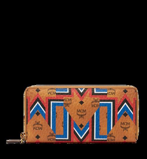 Zip Around Wallet in Gunta M Stripe Visetos