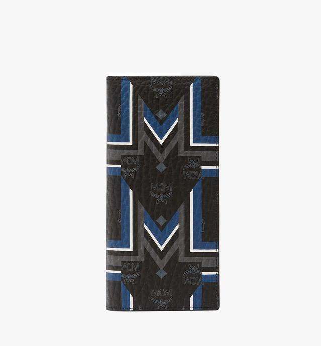 〈グンタ M〉ストライプ ヴィセトス 二つ折りロングウォレット