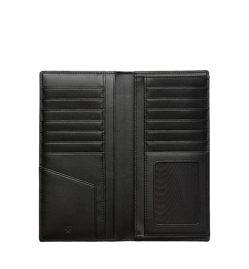 MCM Long Bifold Wallet in Visetos Original Black MXL8SVI70BK001 Alternate View 3