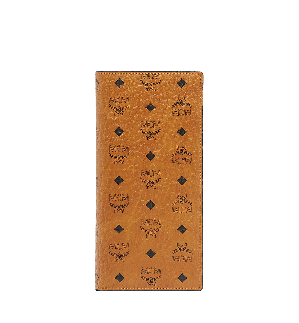 MCM Long Bifold Wallet in Visetos Original Cognac MXL8SVI70CO001 Alternate View 1