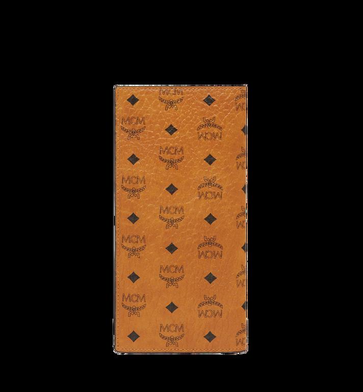 MCM Original lange gefaltete Brieftasche in Visetos Cognac MXL8SVI70CO001 Alternate View 3