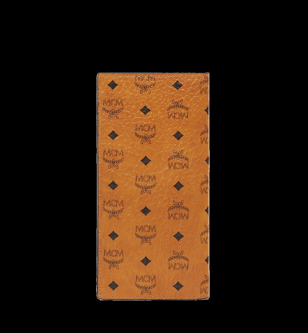 MCM Original lange gefaltete Brieftasche in Visetos Cognac MXL8SVI70CO001 Noch mehr sehen 2