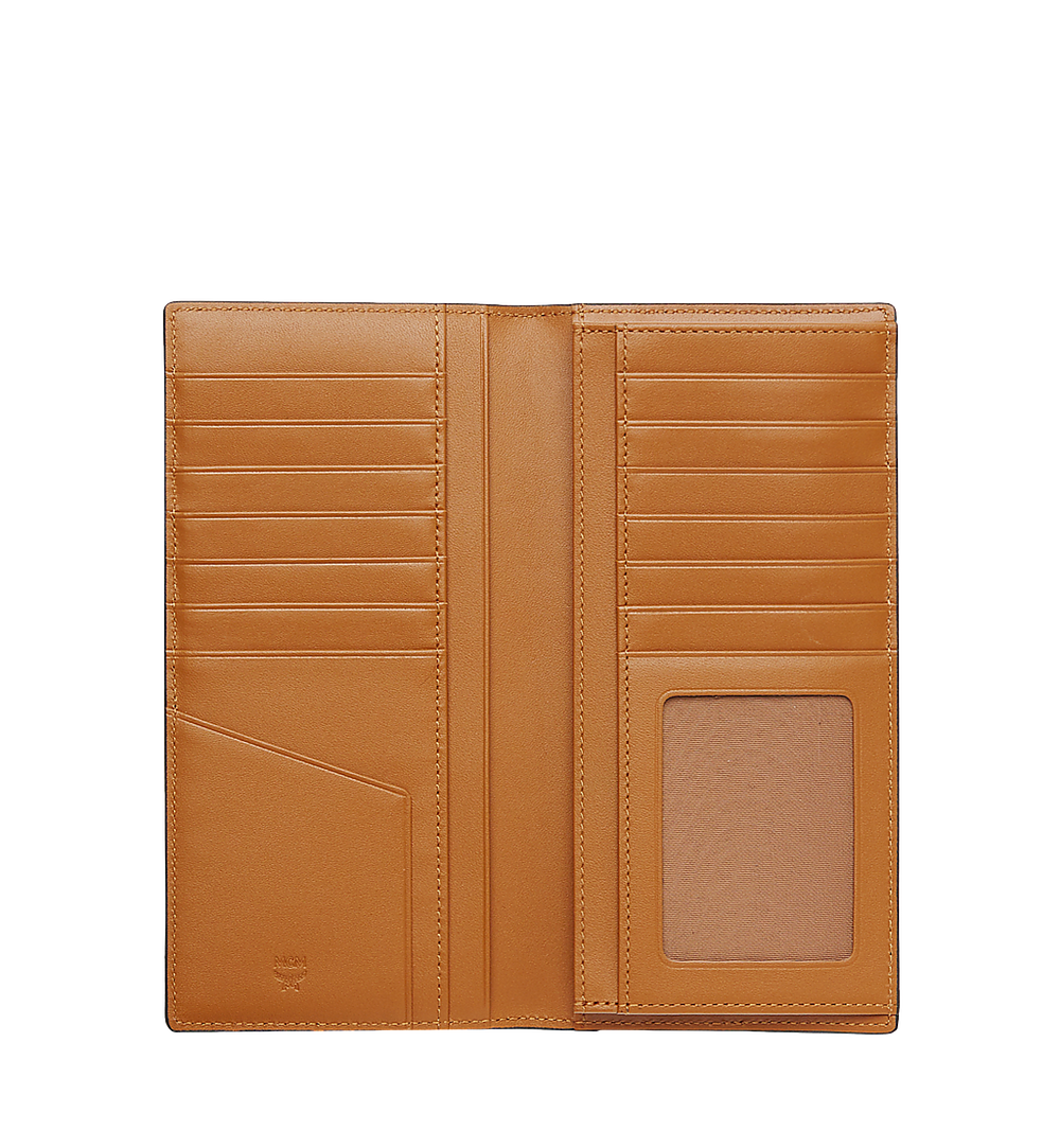 MCM Long Bifold Wallet in Visetos Original Cognac MXL8SVI70CO001 Alternate View 3