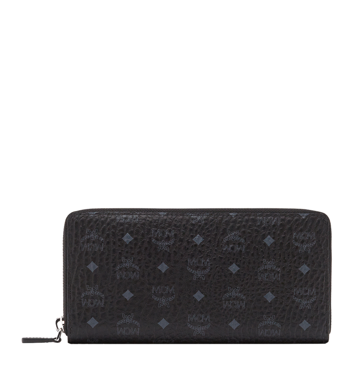 MCM Zip Around Wallet in Visetos Original Alternate View