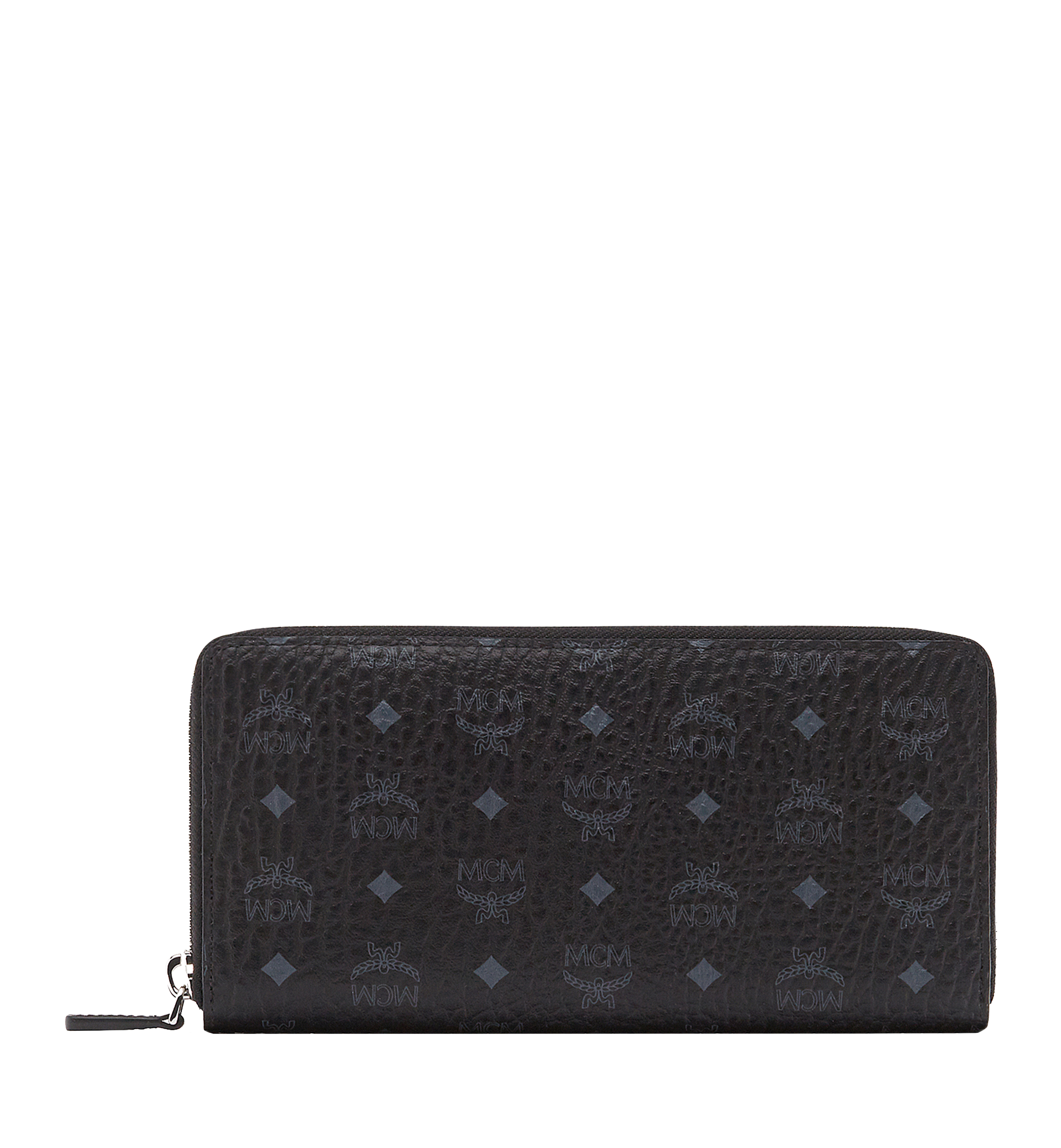 MCM Zip Around Wallet in Visetos Original Black MXL8SVI92BK001 Alternate View 1