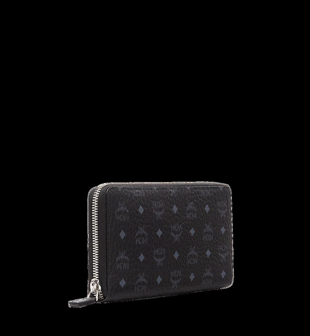 MCM Zip Around Wallet in Visetos Original Black MXL8SVI92BK001 Alternate View 1