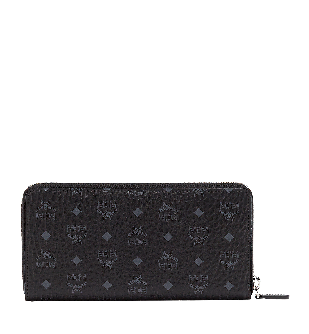 MCM Zip Around Wallet in Visetos Original Black MXL8SVI92BK001 Alternate View 2