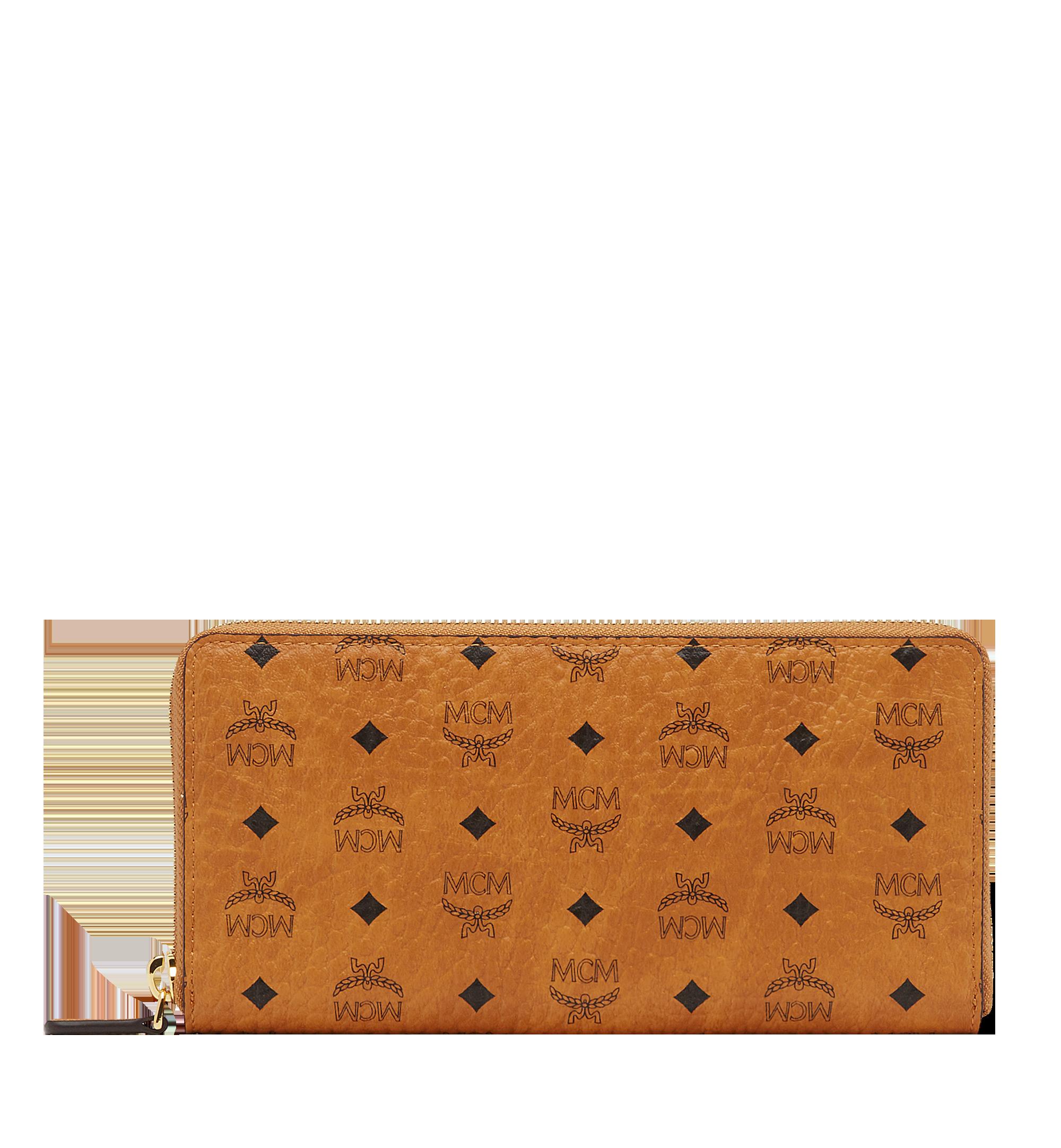 MCM Brieftasche mit Rundum-Reissverschluss in Visetos Original Cognac MXL8SVI92CO001 Noch mehr sehen 1