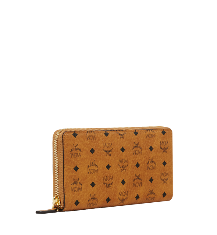 MCM Zip Around Wallet in Visetos Original Cognac MXL8SVI92CO001 Alternate View 2