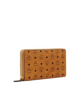 MCM Zip Around Wallet in Visetos Original Alternate View 2