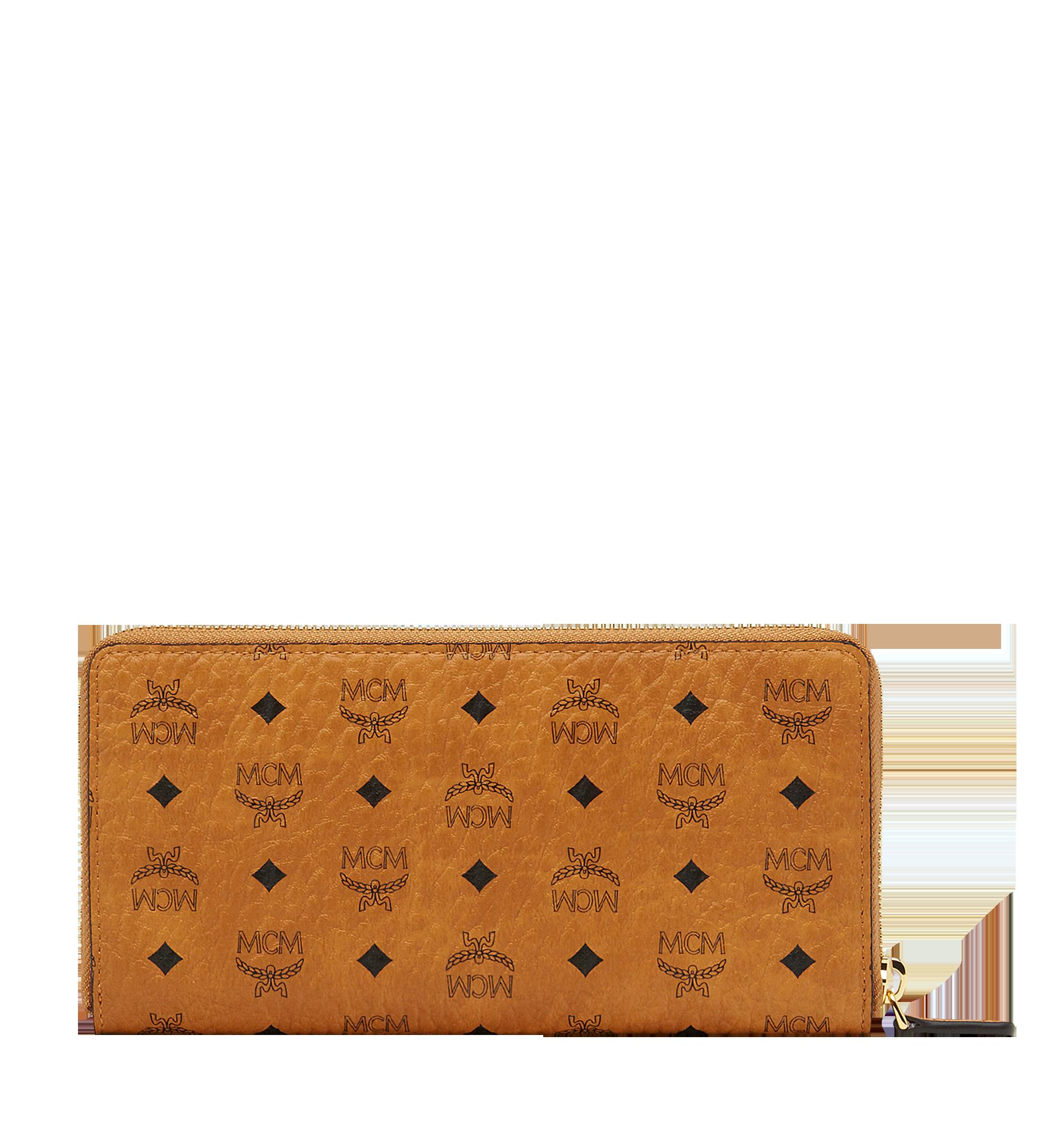 MCM Brieftasche mit Rundum-Reissverschluss in Visetos Original Cognac MXL8SVI92CO001 Noch mehr sehen 2