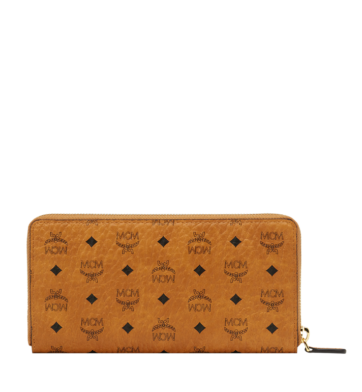 MCM Zip Around Wallet in Visetos Original Cognac MXL8SVI92CO001 Alternate View 3