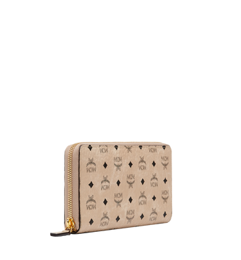 MCM Zip Around Wallet in Visetos Original MXL8SVI92IG001 AlternateView2