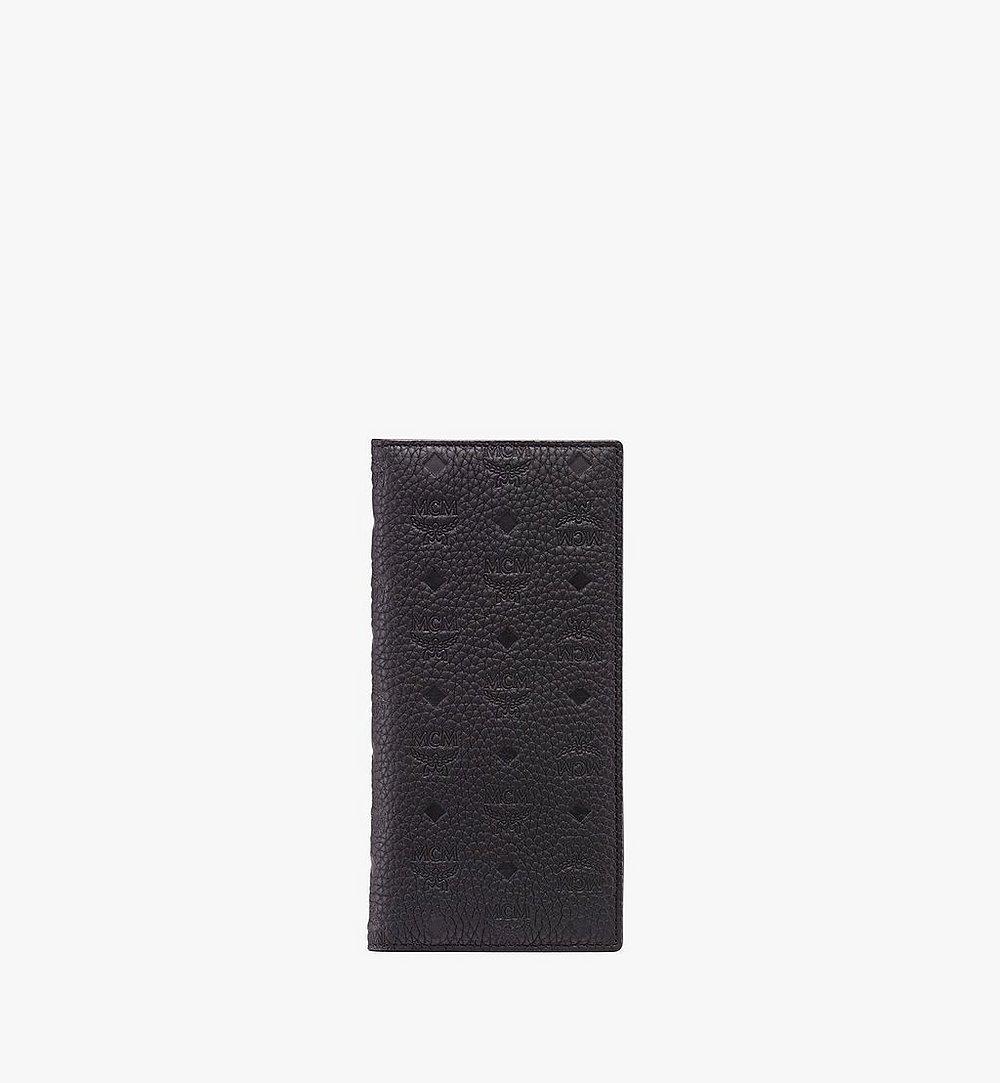 MCM Tivitat Two-Fold Wallet in Monogram Leather Black MXL9ABT22BK001 Alternate View 1