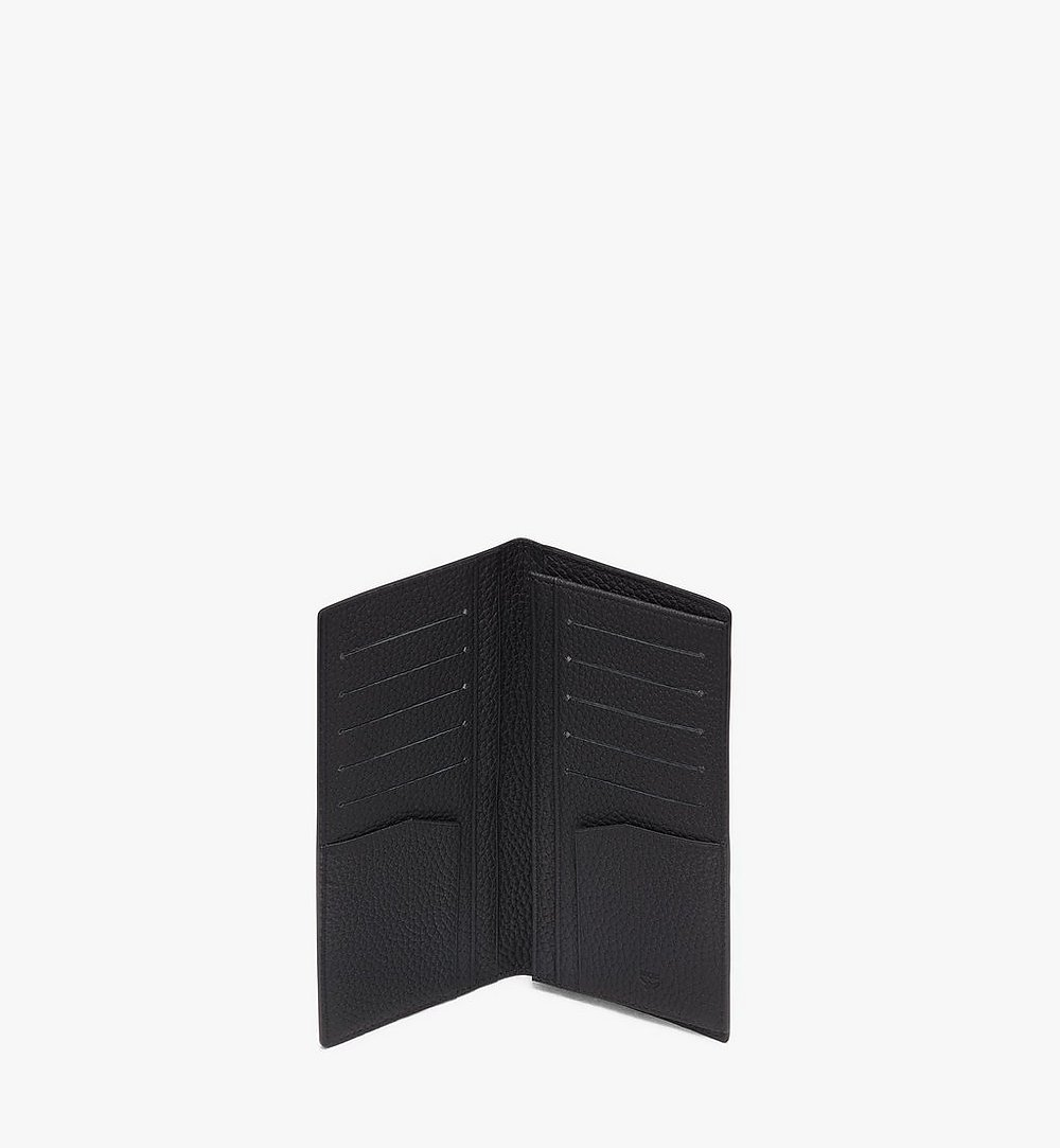 MCM Tivitat Two-Fold Wallet in Monogram Leather Black MXL9ABT22BK001 Alternate View 2