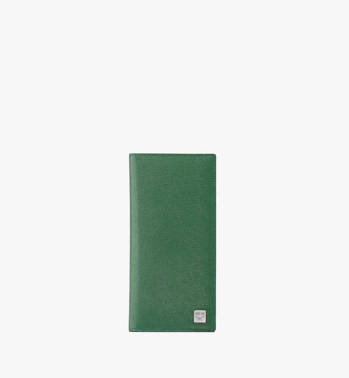 MCM Coburg Long Bifold Wallet in Crossgrain Leather Alternate View