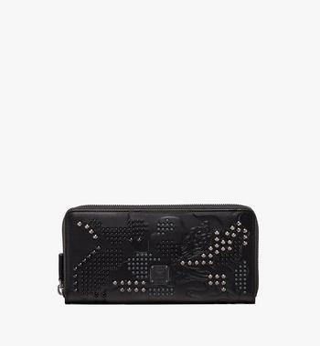 MCM Zip Wallet in Studded Lion Camo Alternate View