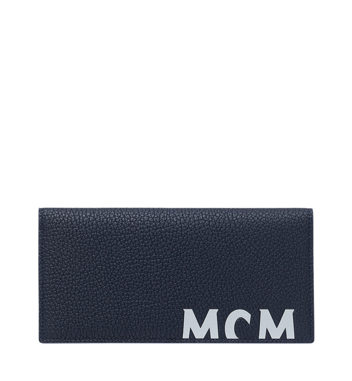 MCM 뉴 빅 로고 2단 장지갑 Navy MXL9SBM02VY001 Alternate View 1