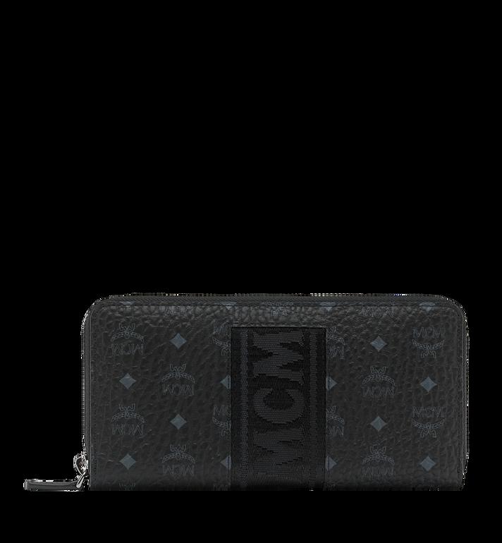 MCM Zip Around Wallet in Webbing Visetos MXL9SVI89BK001 AlternateView
