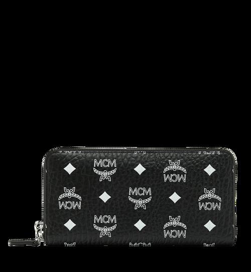 Wristlet Zip Wallet in White Logo Visetos