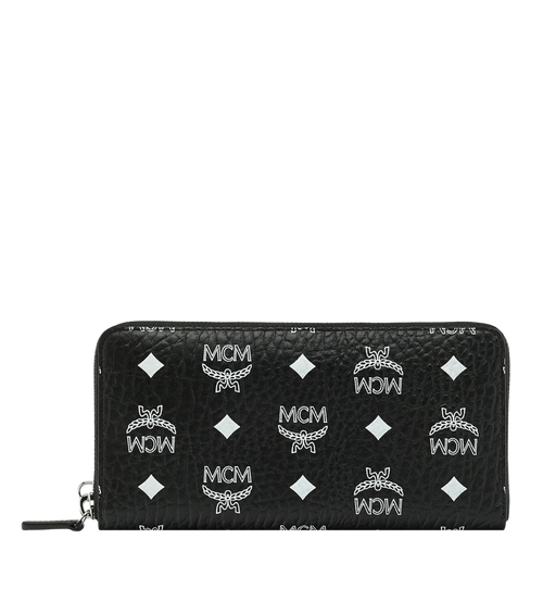 Wristlet Zip Wallet in White Logo Visetos
