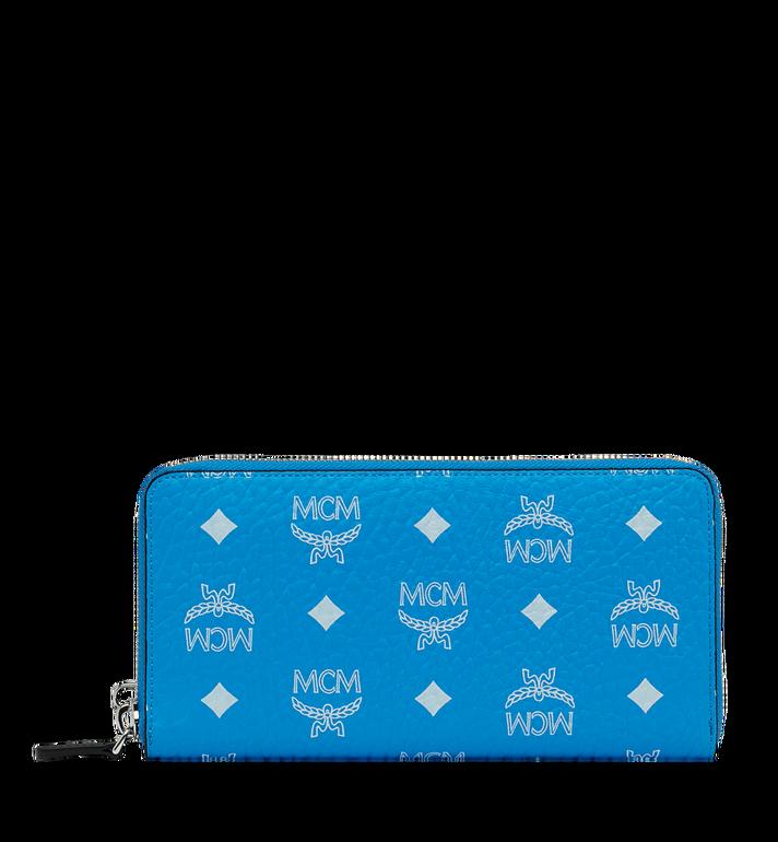 MCM Wristlet Zip Wallet in White Logo Visetos MXL9SWA06HI001 AlternateView