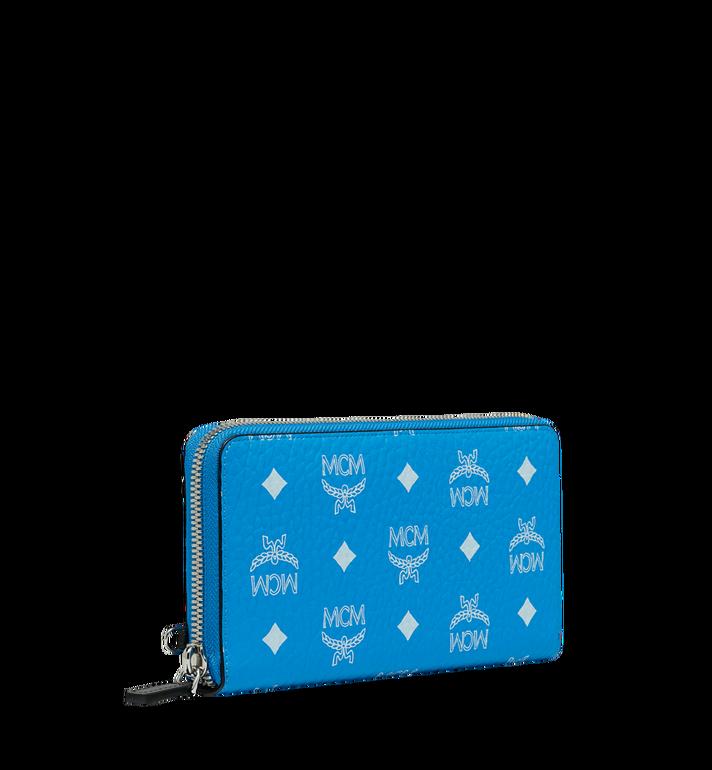 MCM Wristlet Zip Wallet in White Logo Visetos MXL9SWA06HI001 AlternateView2