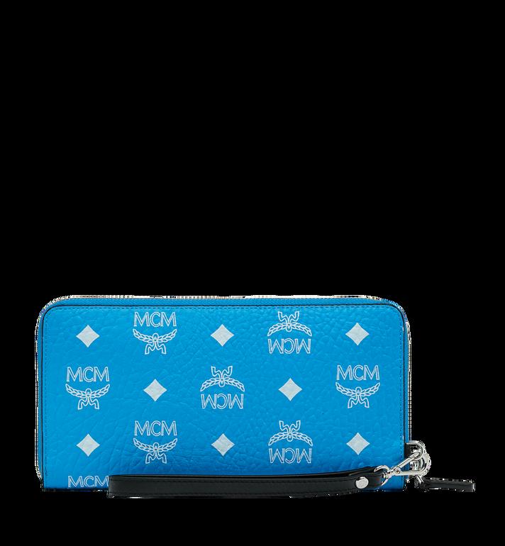 MCM Wristlet Zip Wallet in White Logo Visetos MXL9SWA06HI001 AlternateView3