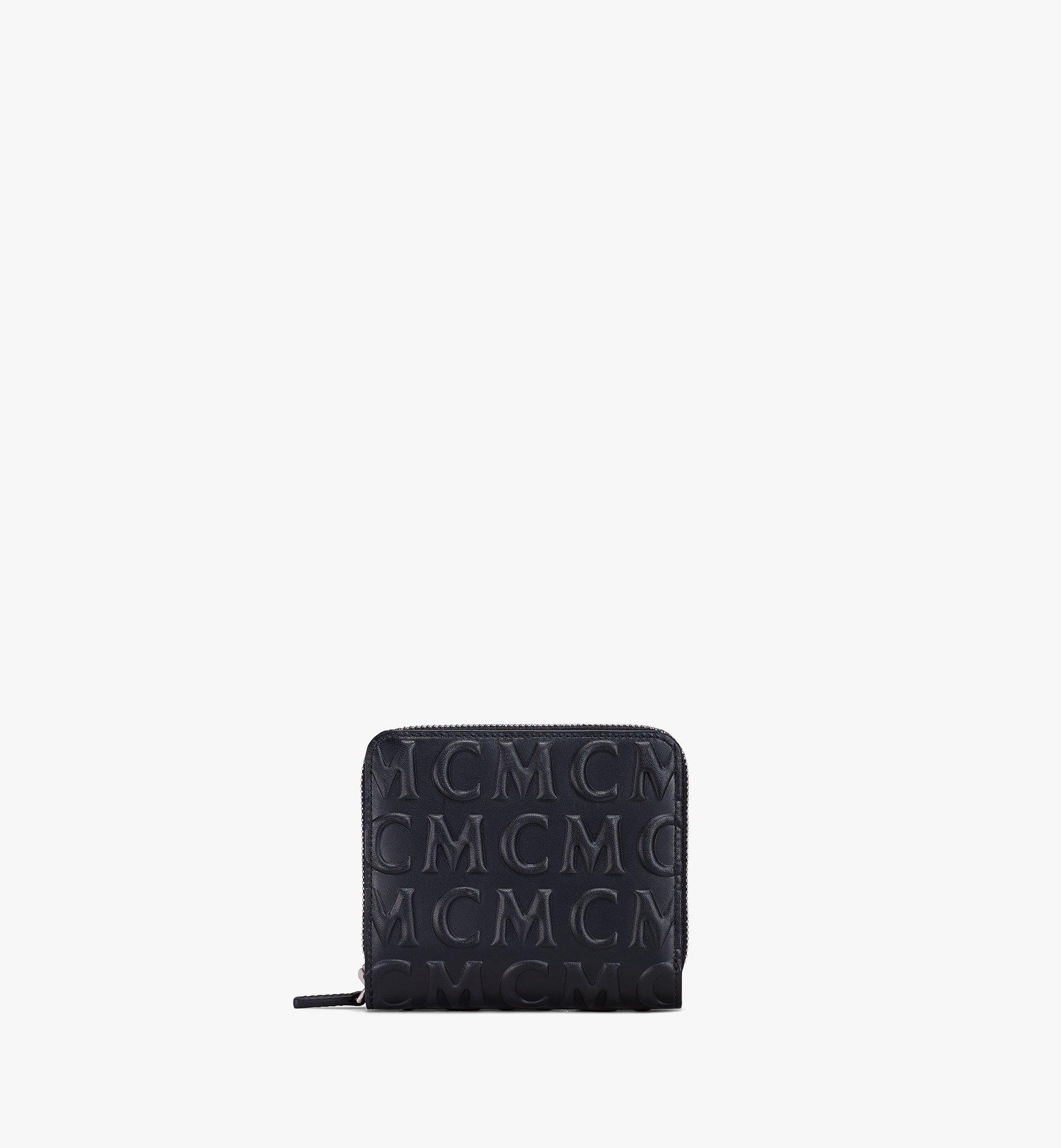 MCM Lederbrieftasche mit Reissverschluss und MCM-Monogramm Black MXLAAMD01BK001 Noch mehr sehen 1