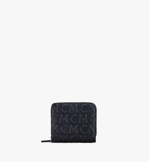 Lederbrieftasche mit Reissverschluss und MCM-Monogramm