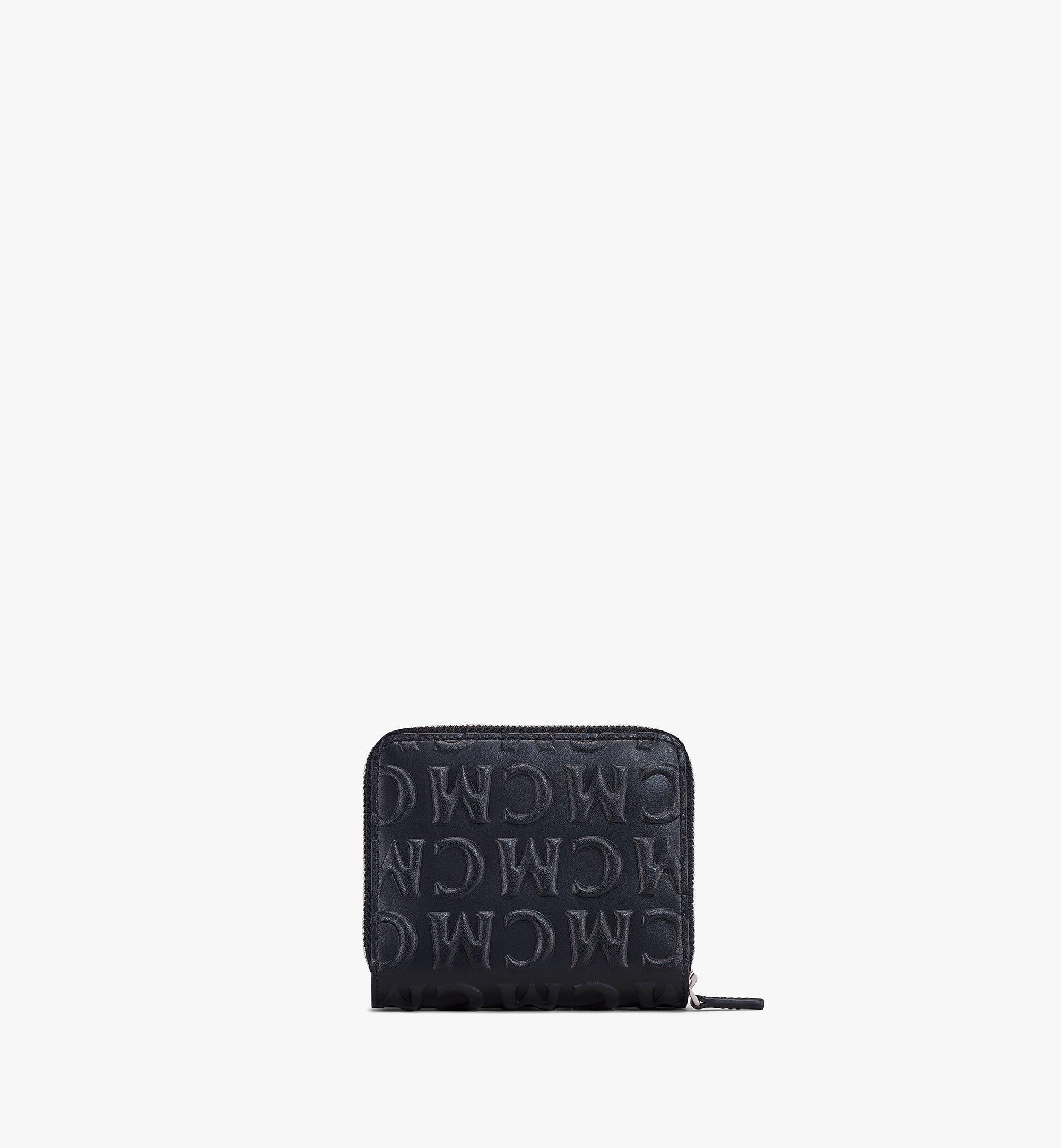 MCM Lederbrieftasche mit Reissverschluss und MCM-Monogramm Black MXLAAMD01BK001 Noch mehr sehen 2