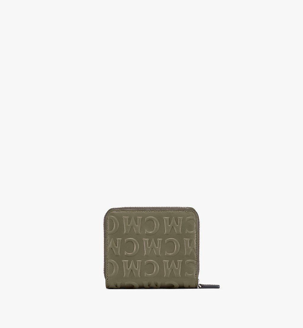 MCM Zip Wallet in MCM Monogram Leather Pink MXLAAMD01JH001 Alternate View 2