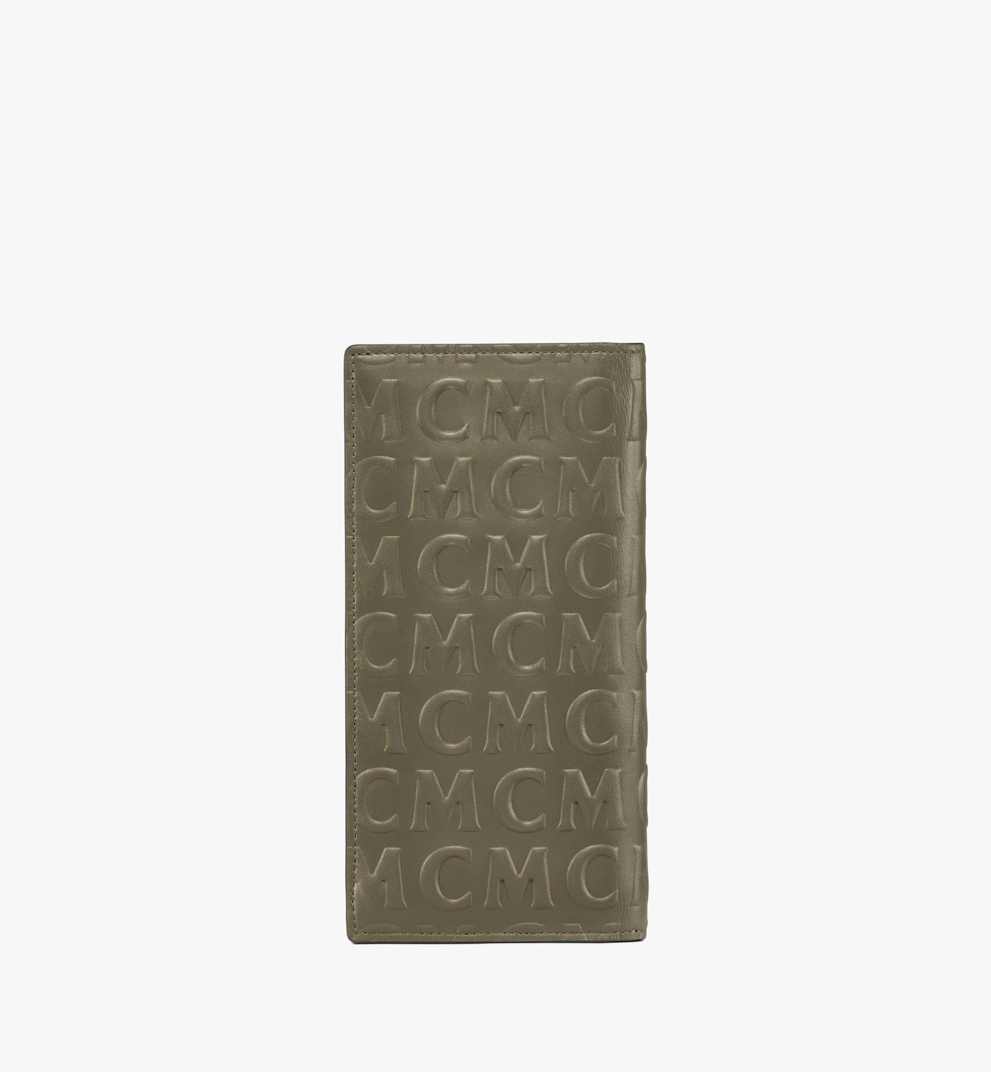 MCM Continental Wallet in MCM Monogram Leather Green MXLAAMD02JH001 Alternate View 2