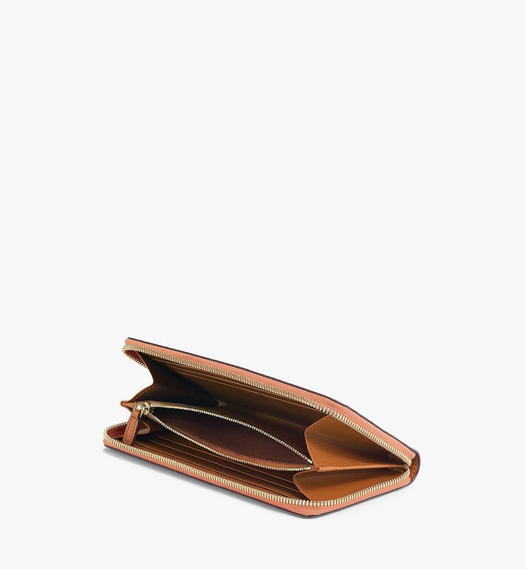 MCM Zip Around Wallet in Visetos Original Cognac MXLAAVI01CO001 Alternate View 1