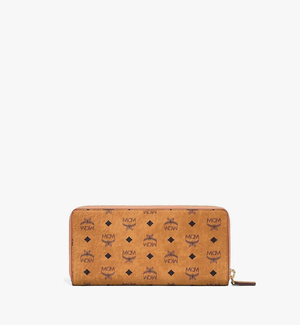 MCM Zip Around Wallet in Visetos Original Cognac MXLAAVI01CO001 Alternate View 2