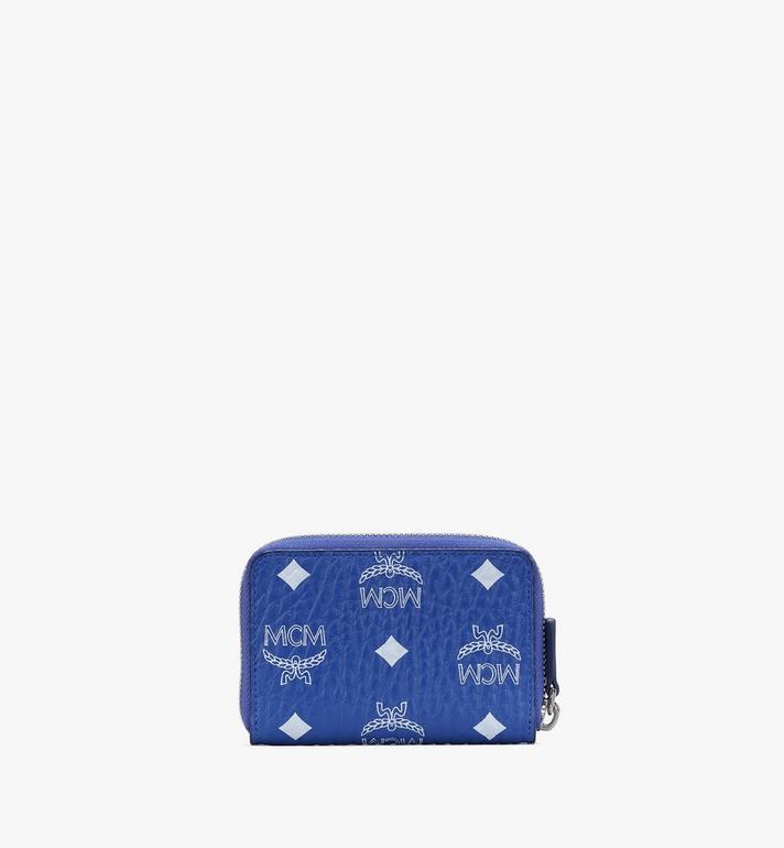 MCM Zip Around Card Wallet in Visetos Blue MXLASVI01H1001 Alternate View 2