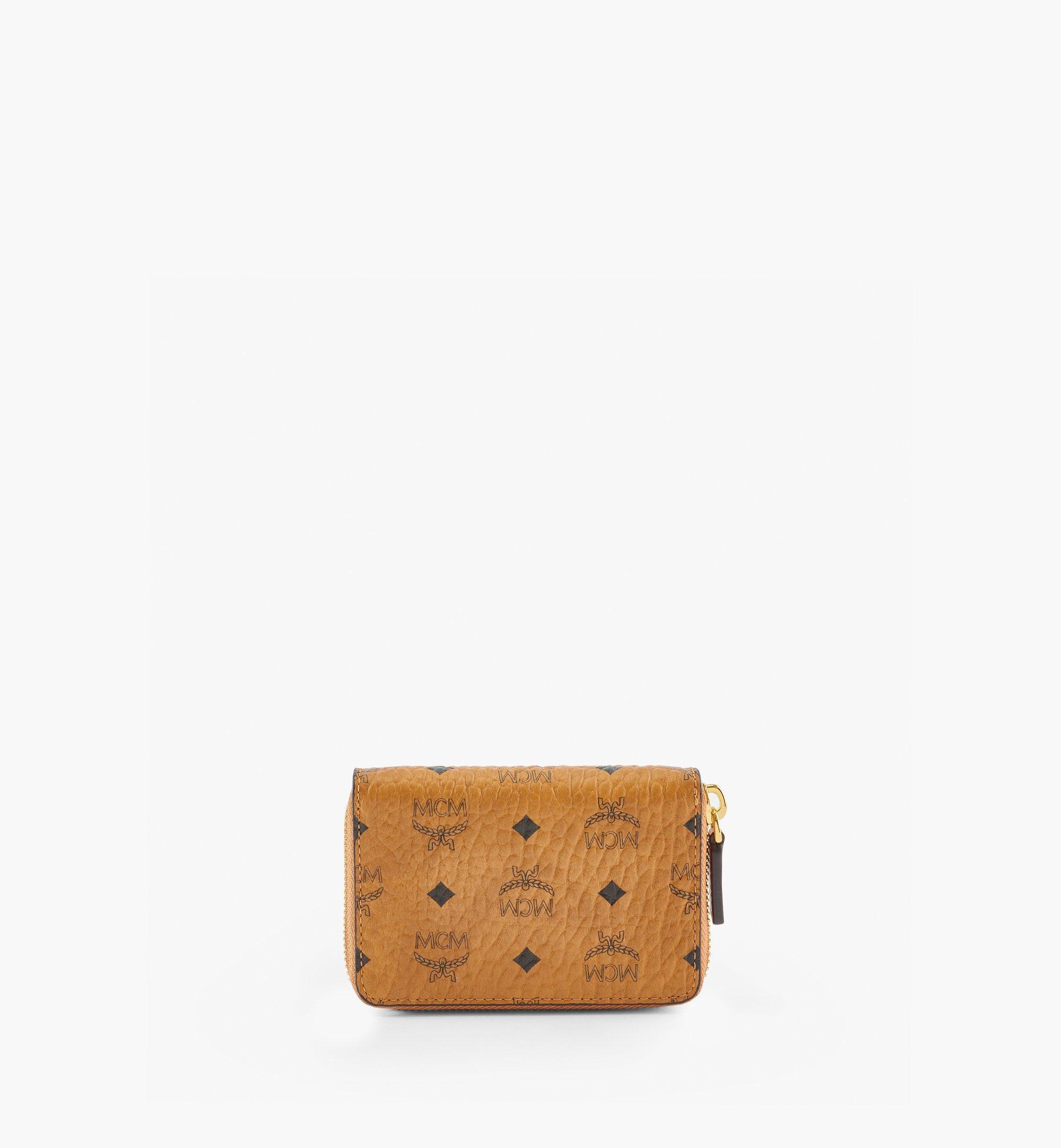MCM MCM x Aka Boku Zip Card Wallet in Visetos Original Cognac MXLBAUP01CO001 Alternate View 2