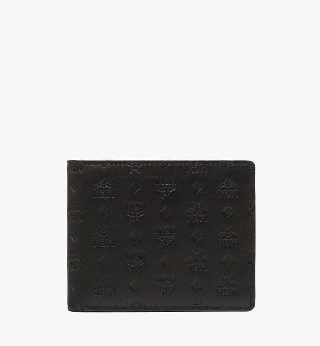 Sigmund gefaltete Brieftasche aus Leder mit Monogramm