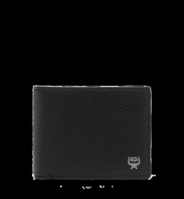 MCM Ottomar gefaltete Brieftasche aus gemasertem Leder MXS7SOT06BK001 AlternateView