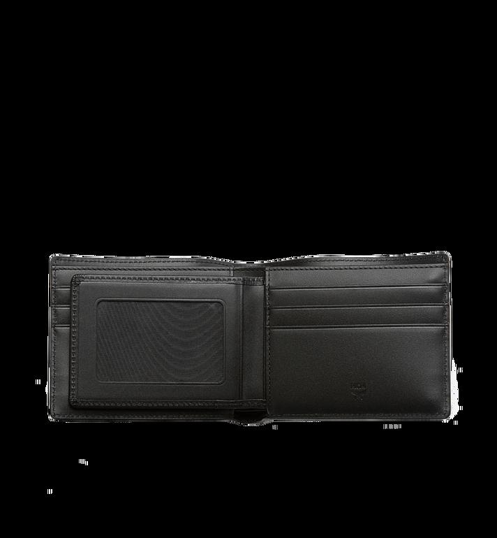 MCM Ottomar gefaltete Brieftasche aus gemasertem Leder MXS7SOT06BK001 AlternateView4