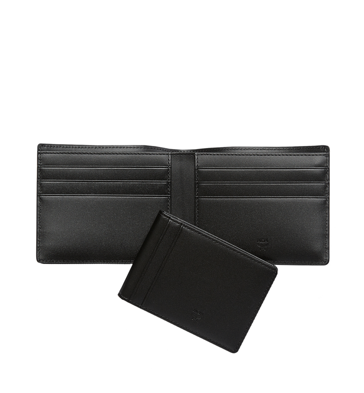 MCM Ottomar gefaltete Brieftasche aus gemasertem Leder MXS7SOT06BK001 AlternateView5