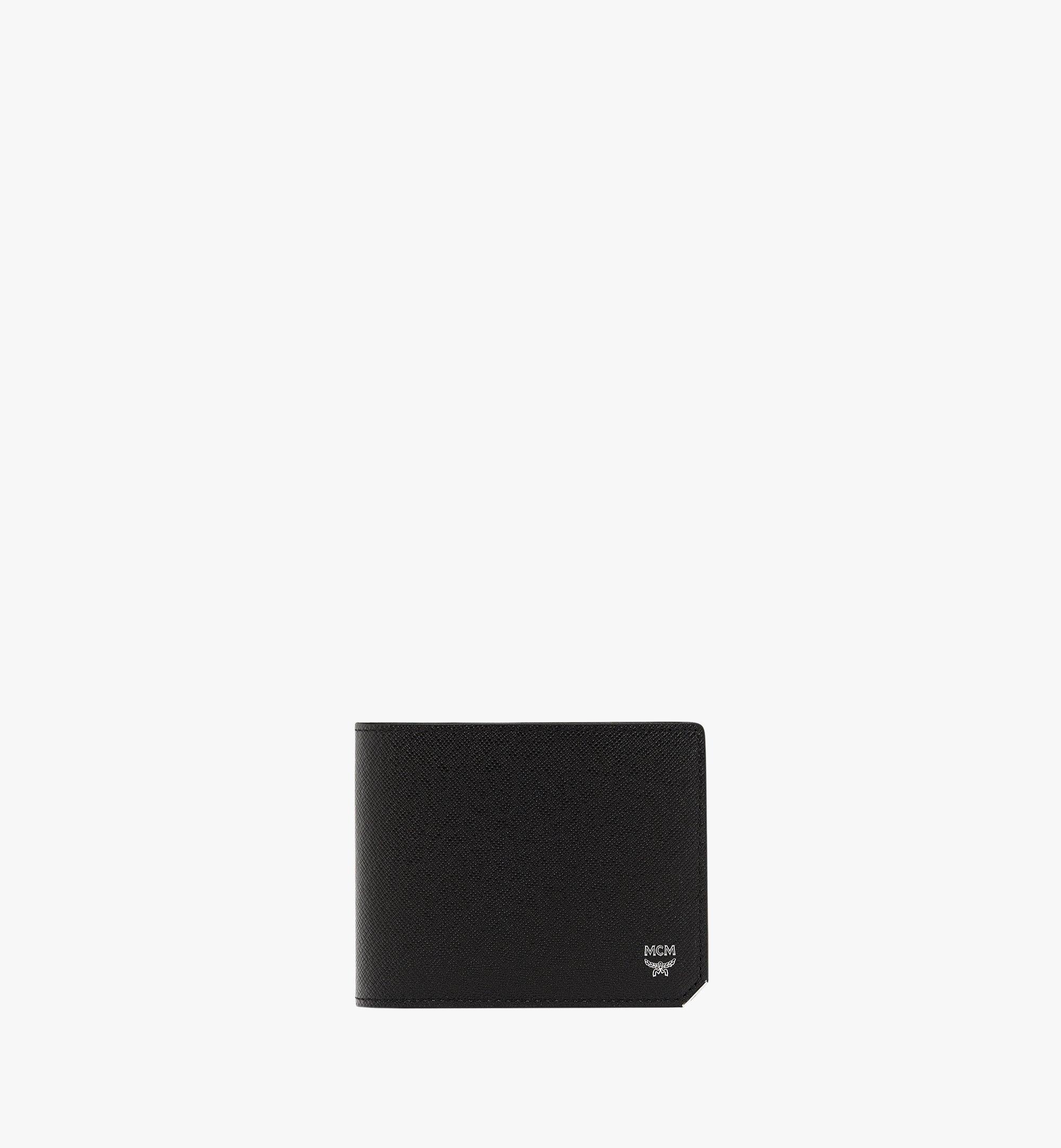 MCM New Bric 經典印花皮革兩折式錢包附卡夾 Black MXS8ALL42BK001 更多視圖 1