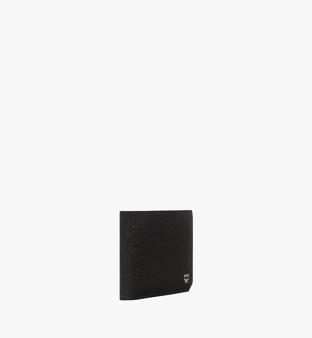 MCM New Bric Bifold with Card Case in Embossed Leather Black MXS8ALL42BK001 Alternate View 1