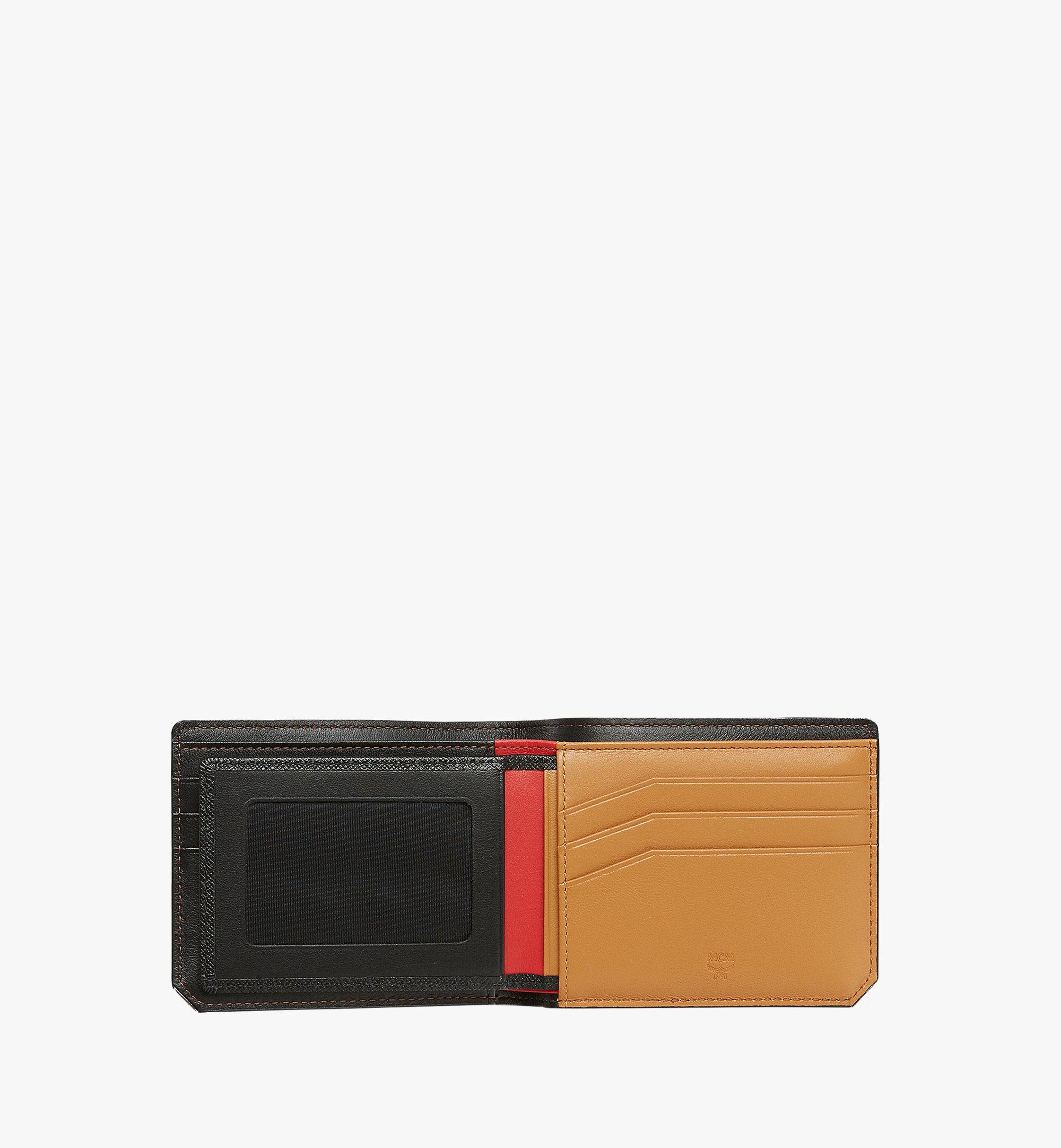 MCM New Bric 經典印花皮革兩折式錢包附卡夾 Black MXS8ALL42BK001 更多視圖 3
