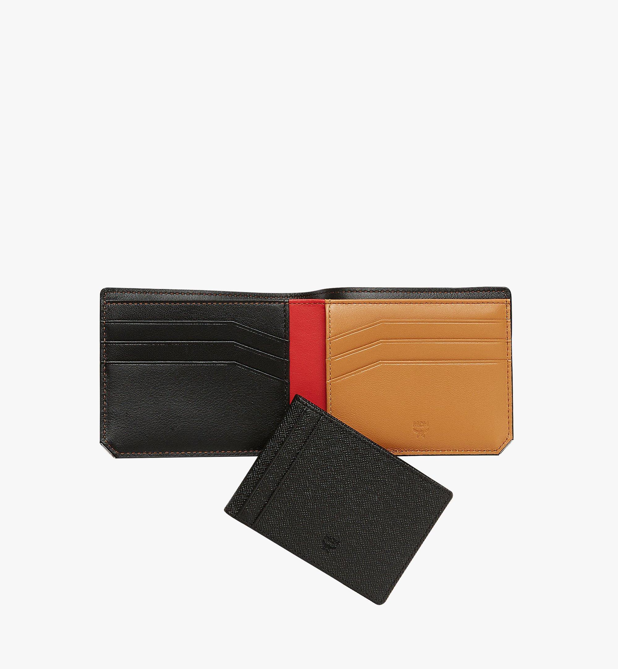 MCM New Bric 經典印花皮革兩折式錢包附卡夾 Black MXS8ALL42BK001 更多視圖 4