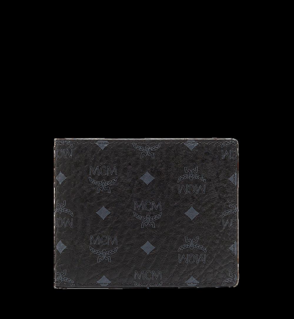 MCM Claus Bifold Wallet in Visetos Black MXS8SVI35BK001 Alternate View 1