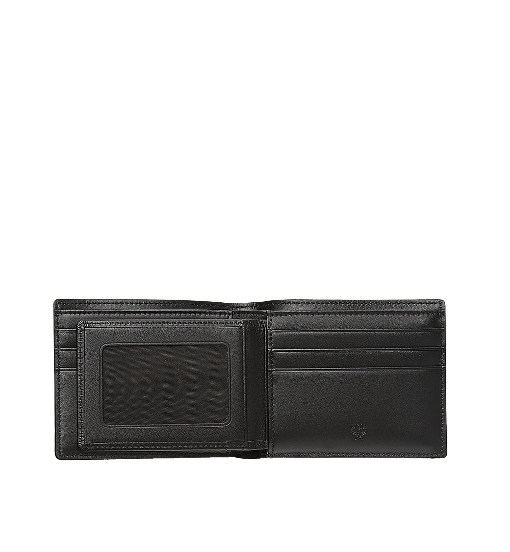 MCM Claus Bifold Wallet in Visetos Black MXS8SVI35BK001 Alternate View 3