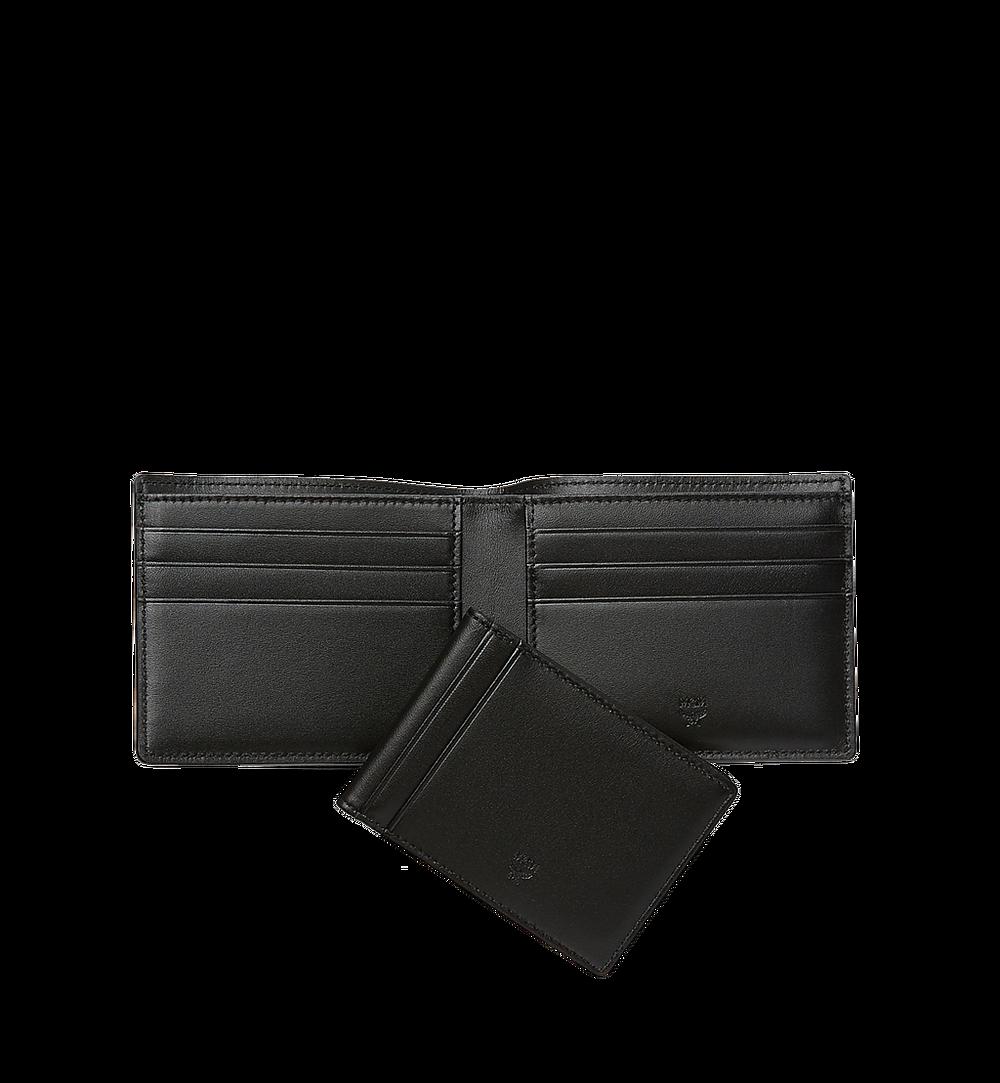 MCM Claus Bifold Wallet in Visetos Black MXS8SVI35BK001 Alternate View 4