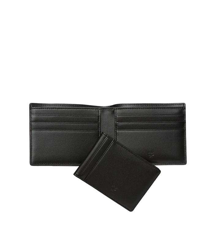 MCM Claus Bifold Wallet in Visetos MXS8SVI35BK001 AlternateView5