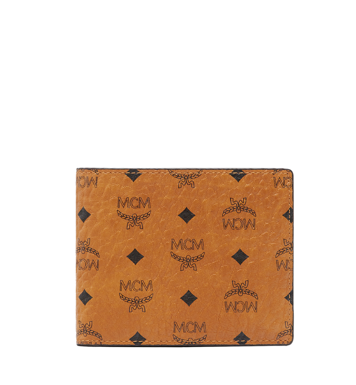 dfae20ab32ec Small Claus Bifold Wallet in Visetos Cognac | MCM